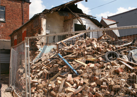 remains of a building which had collapsed Stock Photo - 1637782