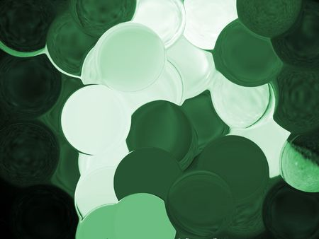 contrasty: green bubble background with over lapping bubbles