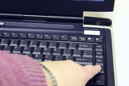 laptop keyboard and blank screen isolated over white Stock Photo - 1944646