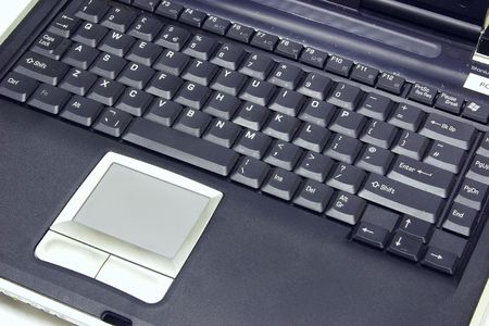 laptop keyboard and blank screen isolated over white Stock Photo - 1944653