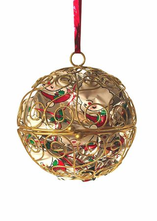 metal christmas ball isolated over a white background Stock Photo - 2053487
