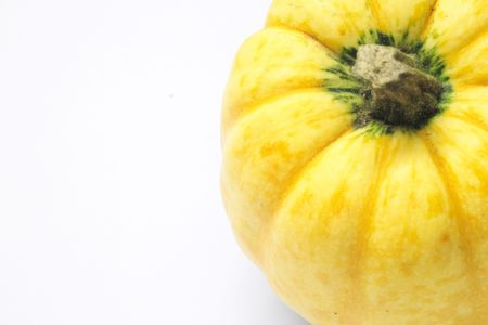 alight: yellow ornamental squash isolated over alight background
