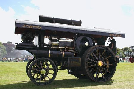 fairground: traction steam engine at a radio rally
