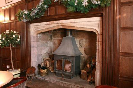 Large Stone Fireplace large stone fireplace images & stock pictures. royalty free large