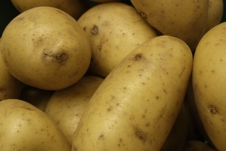 washed: closeup of washed new potatoes