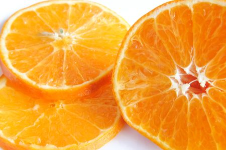 nack: orange sliced and halved and put on a plate