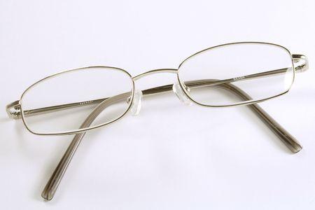rimmed: una llanura de plata rimmed par de gafas  Foto de archivo