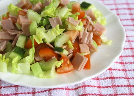 lunchtime: diced ham salad a welcome lunchtime snack