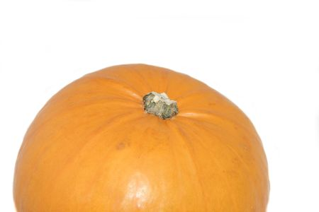 large pumpkin: large pumpkin isolated over a white background