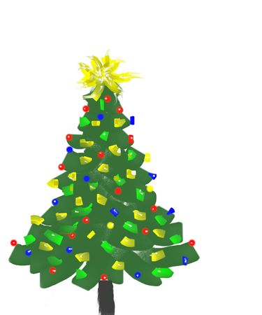 hand painted christmas tree for the festive season photo