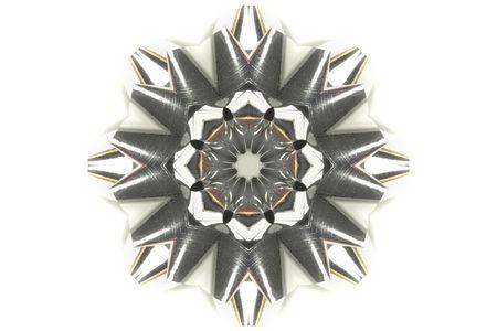 kaleidascope: poppy created as a kaleidescope over a light background