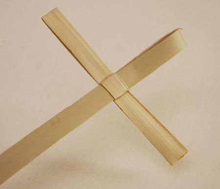 reed cross made for palm sunday mass Stock Photo - 5233004