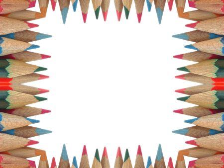 kaleidascope: crayon border  background tile effect abstract illustration Stock Photo
