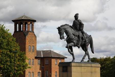 bonnie: this is a statue of Bonnie Prince Charlie positioned in front of the old Silk mill which is now used as an Industrial Museum in the city of Derby