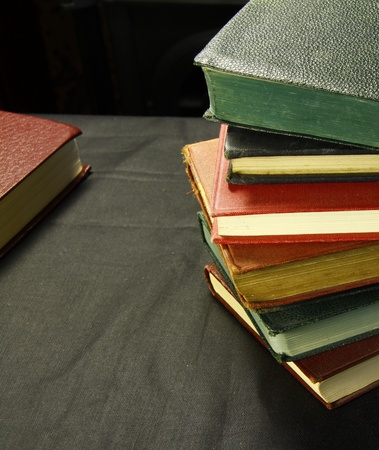 pile of old books of fiction written by great authors Stock Photo - 11090448