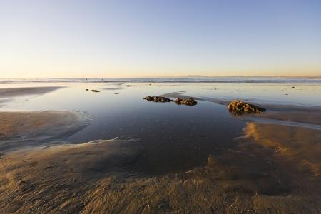 Late afternoon low tide off Malaga Cove, Palos Verdes peninsula, California Stock Photo - 14933867