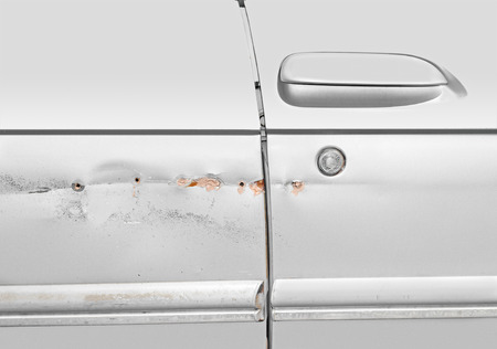 chipped: Car scratches dents and holes