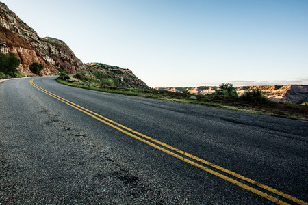 duro: The Open road Stock Photo