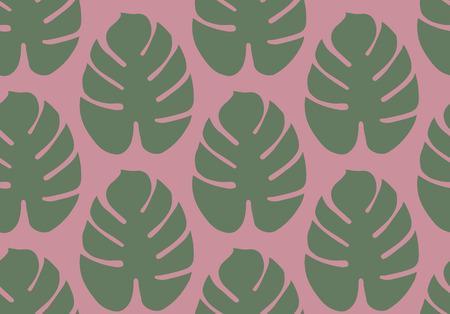 Monsterra leaves pattern in Vector illustration.