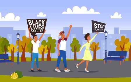 black lives matter, racism, freedom, protest, demonstration 向量圖像