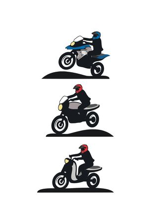 Motorcycle touring design - Motorbike touring design vector eps format Иллюстрация