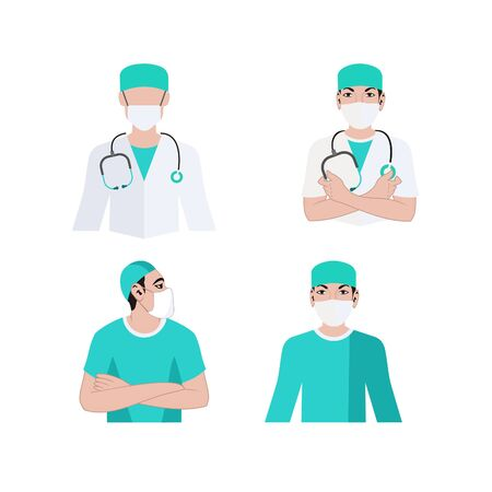 Doctor medical team  - medical, doctor, surgeon, surgery logo design vector eps format