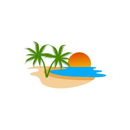 Beach illustration design vector eps format