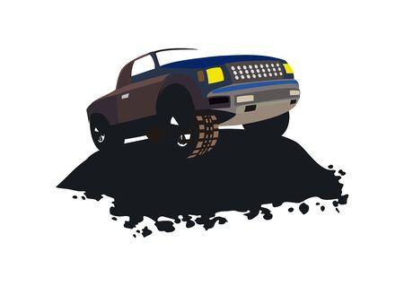 Offroad vehicle logo design vector eps format