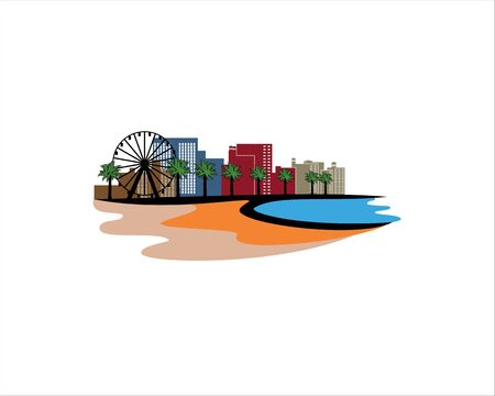 Myrtle Beach landscape vector format Illustration