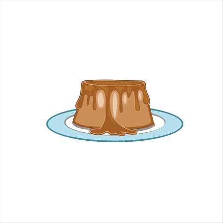 Chocolate jelly cake vector format