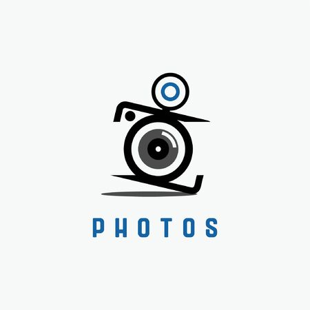 vector of classic photography camera logo