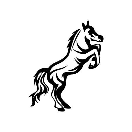 vector of Horse character design eps format Vecteurs