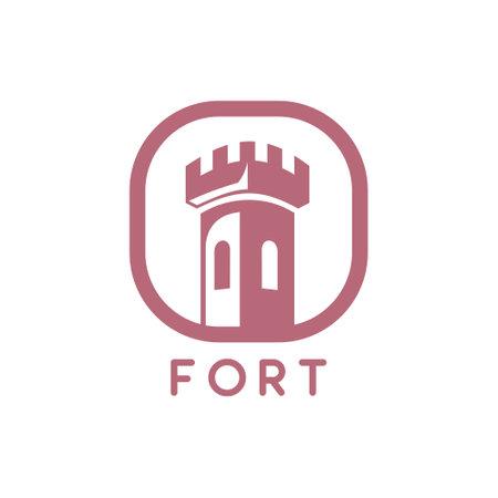 Fort logo design 向量圖像