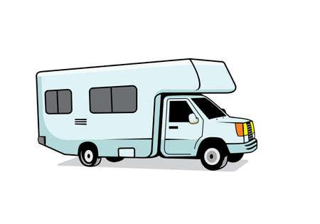 RV recreational vehicle design illustration vector format , suitable for your design needs, logo, illustration, animation, etc.