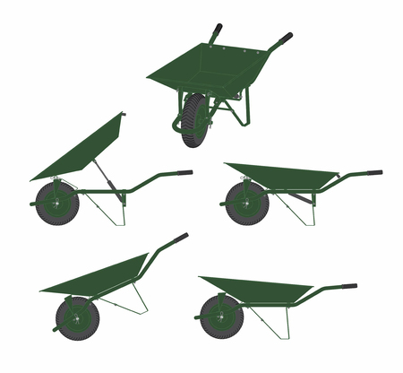 Wheelbarrow icon illustration.