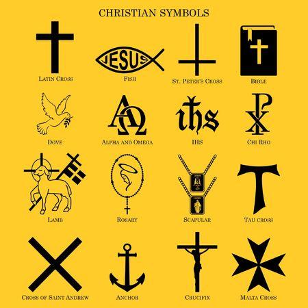 simbolos cristianos Ilustración de vector