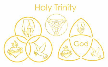 símbolo de la santísima trinidad Ilustración de vector