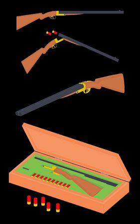 12 gauge shotgun Vetores