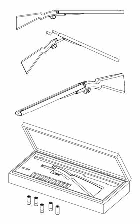 12 gauge shotgun silhouette