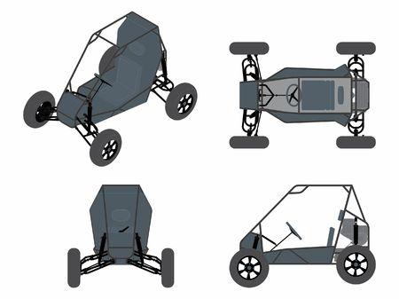 Low vehicle colored Ilustração