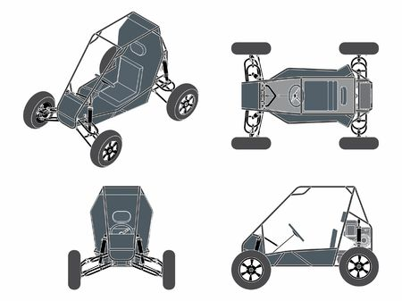 Baja vehicle without outline