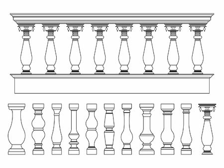 Balustrade outline only