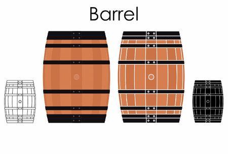 Barrel colored Иллюстрация