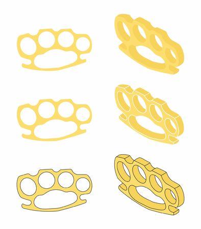 Brass knuckle gold Ilustracje wektorowe
