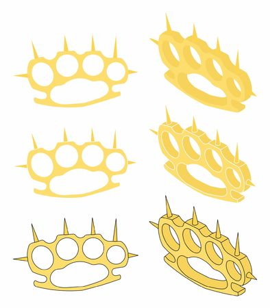 Brass knuckle gold