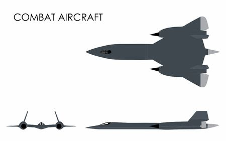 Combat Aircraft colored Ilustracja