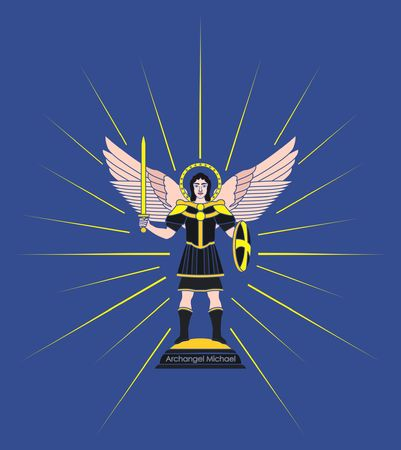 Archangel Michael. Without outline