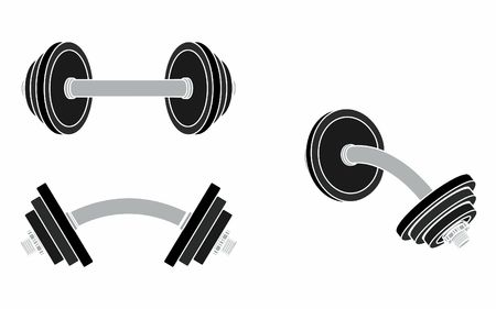 Dumbbell curved, without outline and colored