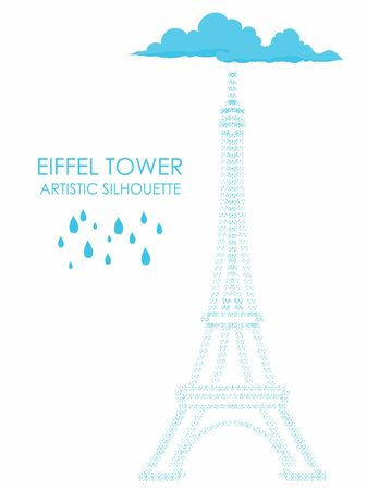 Eiffel Tower Artistic Silhouette