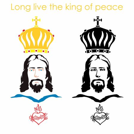 Jesus, heart and crown